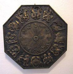 Vintage Syroco Zodiac Plaque 1969 Sun Sign Medallion 7157 Horoscope Wall Hanging