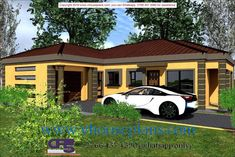 Overall Dimensions- x 2 Car Garage Area- Square meters Free House Plans, House Floor Plans, Home Design Plans, Plan Design, Exterior Paint Colors, Paint Colours, Building Costs, Site Plans, Square Meter