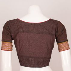 Hand Block Printed Cotton Blouse with Piping 10036912 - Size 38 Birthday Greetings For Daughter, Pattern Sewing, Blouse Online, Cotton Blouses, Printed Cotton, Blouse Designs, Ethnic, Men Sweater, India
