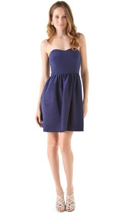 Thread Olivia Strapless Dress - pretty navy! Navy Blush Weddings, Blush  Bridesmaid Dresses, 714c166e9f28