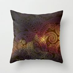 tribe02 Throw Pillow by ECSTATIC - $20.00