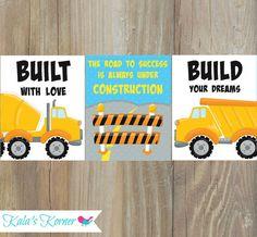 CONSTRUCTION NURSERY ART  Construction Truck Print by KalasKorner