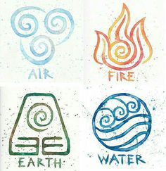 Elements... #air #fire #earth #water