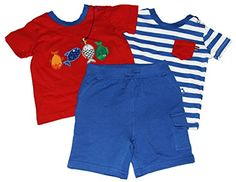 Little Me Baby Boys Fish 3 Piece Daycare Set BlueMulti 18 Months >>> Read more at the image link.