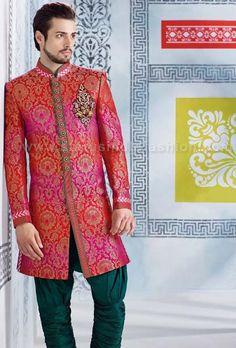 sherwani for men, sherwani uk, Asian clothes, wedding sherwani, Indian sherwani, sherwani indo western, sherwani, mens wedding sherwani www.statusindiafashion.com
