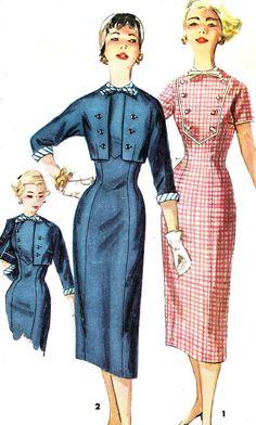 Vintage Sewing Pattern 1950s Simplicity 1456 Slim by paneenjerez, $25.00