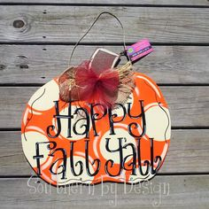 1 Ready to Ship Fall SINGLE PUMPKIN Wooden by SouthernByDesignCo