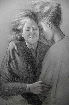 "Susy Saulle ""addii"" contemporary figurative drawing"