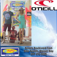 We have O'neill brand clothing and swimwear in store, so come and check it out at our stores. #oneill #clothing #swimwear