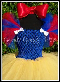 SNOW WHITE Inspired Crocheted Tutu Dress and by goodygoodytutus, $55.00