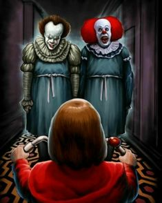 The Shining / Pennywise Halloween Film, Halloween Horror, Jason Voorhees, Clown Pennywise, Pennywise The Dancing Clown, Chucky, Scary Movies, Horror Movies, Films Stephen King