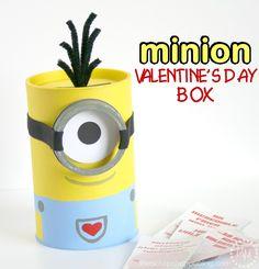 DIY Minion Valentine's Day Box
