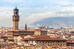 Stock photo available for sale at Photodune: View Of Palazzo Vecchio, Florence