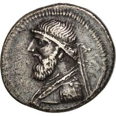 Unfortunately, this collectible item is no longer available ! ➽ Ask us to find it for you : Parthia (Kingdom of) Mithridates II Drachm Ekbatana Parthian Empire, 50th, Oriental, Coins, Silver, Inspiration, Collection, Biblical Inspiration, Coining