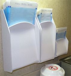 The best way to organize/store sterilization pouches and digital sensor sheaths! Go to pouchkeepers.com