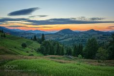beautiful sunset in the Carpathian mountains by CatalinGrigoriu. Please Like http://fb.me/go4photos and Follow @go4fotos Thank You. :-)