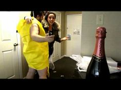 PROPOSAL FALL! (this is my engagement video!) Don't ask why my fiancé is in a banana suit.. He just is! Haha