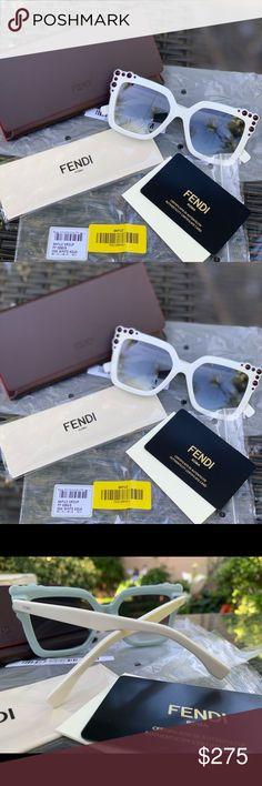 9657eea9132d Fendi sunglasses new FENDI FF 0260/S Frame Color: White Aqua 00GA / dark