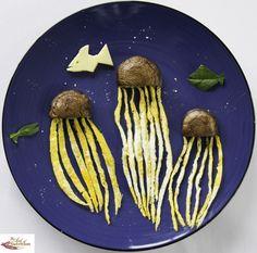 Healthy food art breakfasts jellyfish