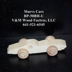 Birthday Party Pack 20 Handcrafted Wood Toy Cars BP-50BH-U unfinished or finished by VMWoodFactree for $35.64