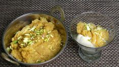 Sooji Halwa is a traditional but popular dessert. Sooji Halwa is delicious and a welcome treat for guests. I have done this recipe a few years ago and now decided to do another version of Sooji Halwa with little twist, turning this into an exotic Halwa beyond your belief. Indian Dessert Recipes, Sweets Recipes, Ethnic Recipes, Dessert Ideas, Clarified Butter Ghee, Sandwich Spread, Vegan News, I Have Done, Vegetarian Recipes