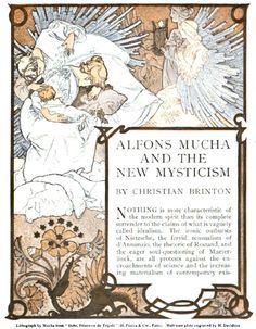 """Alfons Mucha and the New Mysticism""; illustrated by Mucha for Century Illustrated magazine, 1904"