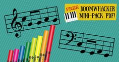 Free 6 page music charts, plus DIY instructions to make boomwhackers!