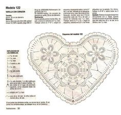 Crochet Heart - Pattern ❥ 4U // hf