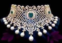 tanishq diamond jewellery designs with price Diamond Choker, Diamond Pendant Necklace, Diamond Jewelry, Gold Jewelry, Diamond Necklaces, Choker Necklaces, Emerald Diamond, Chanel Jewelry, Indian Jewellery Design