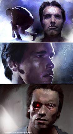 The Terminator (1984) by Vlad Rodriguez, via Behance