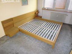 Ikea postel s dvěma rošty a nočními stolky - obrázek číslo 1