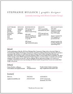 Stephanie Bullock→Resume + Design Process Infographic