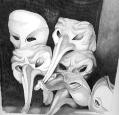 Image result for still life drawings with masks