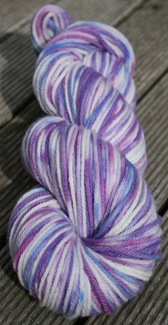 Pastel Purples, 8ply / DK White Gum Wool, merino wool, semi-solid. Ethical, superfine merino, Australian. by AngiesStudioYarn on Etsy