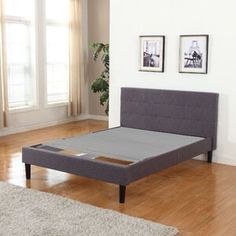 Wayton, Covered Wooden Bed Covered Slats/Bunkie Board, Twin XL Size 80 inch x 39 inch, Beige Platform Bed Frame, Upholstered Platform Bed, Underbed Storage Drawers, Cama Box, Panel Headboard, Wingback Headboard, Bed Slats, Bed Reviews, Mattress Springs