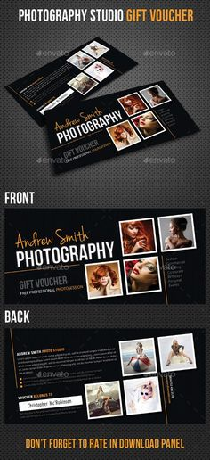Photography Studio Gift Voucher 02  #template #cards #print #invites