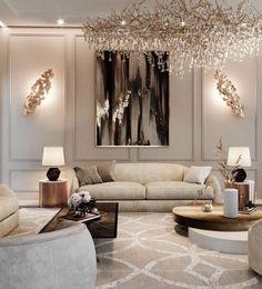 Room Interior, Interior Design Living Room, Living Room Designs, Living Room Decor, Interior Ideas, Classic Living Room, Elegant Living Room, Home Room Design, Design Bedroom
