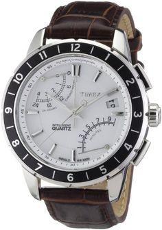 22e809dda315 Timex Men s T2N496 Intelligent Quartz SL Series Fly-Back Chronograph Brown  Leather Strap