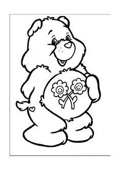 Desenhos para colorir para crianças. Desenhos para imprimir e colorir Ursinhos Carinhosos 17