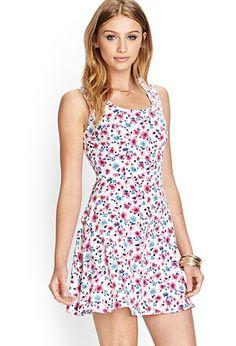 Floral Fit & Flare Dress | FOREVER21 - 2000062044  $15