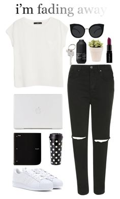 """""""Make your own style"""" by kiki-aleksandrov ❤ liked on Polyvore featuring Topshop, MANGO, Quay, Paul Smith, Kate Spade, adidas, Living Proof, Smashbox, balck and yourstyle"""