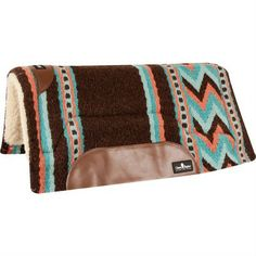 Classic Equine Chocolate & Turquoise SensorFlex Pad - Saddles & Tack | D&D Farm and Ranch