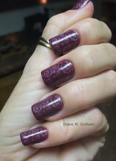 "Zoya ""Toni"" stamped with OPI DS Signature"