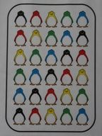 Le Grand Nord : Les pingouins au bedon doux. Jeu de dénombrement