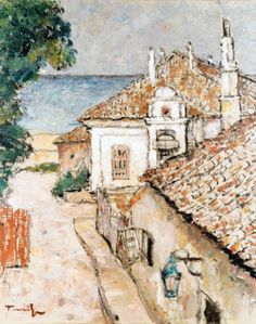 Street in Balchik , oil / canvas. (the artist ? Oil Canvas, Canvas Art, Painting Canvas, Lovers Art, Museum, Bulgarian, Matisse, Romania, Painters