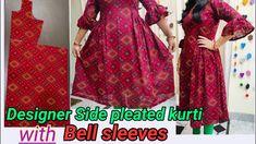 Baby Clothes Patterns, Clothing Patterns, Sewing Patterns, Kurta Neck Design, News Design, Blouse Designs, Kurti, Bell Sleeves, Tube