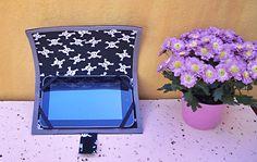 Capa para tablet feita com EVA revestido de tecido