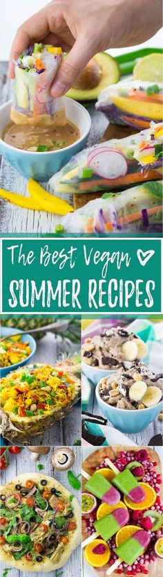 I'm so glad summer is finally here! It was so hot in the last couple of days, so I took some time and put together my favorite healthy and vegan summer recipes!
