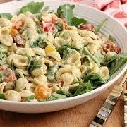 BLT Pasta Salad with Avocado Ranch Dressing