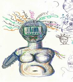 """""""If I was a Robot"""" - colored pencil, in Recent Artwork"""